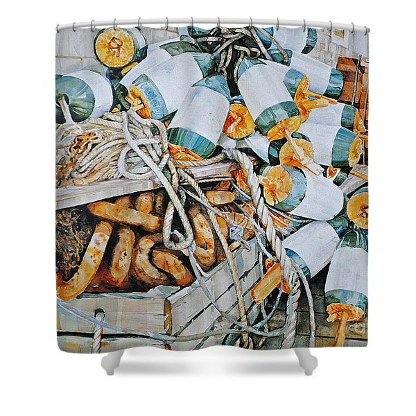 All Buoy'd Up Shower Curtain by P Anthony Visco
