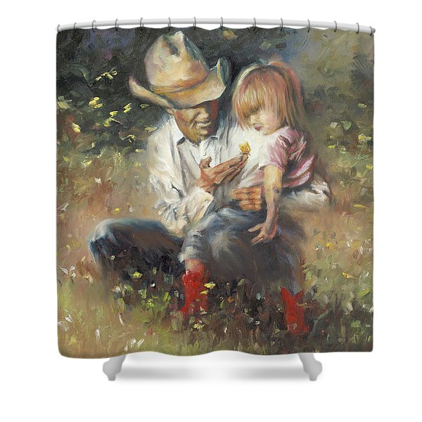 All Of Life's Little Wonders Shower Curtain by Mia DeLode