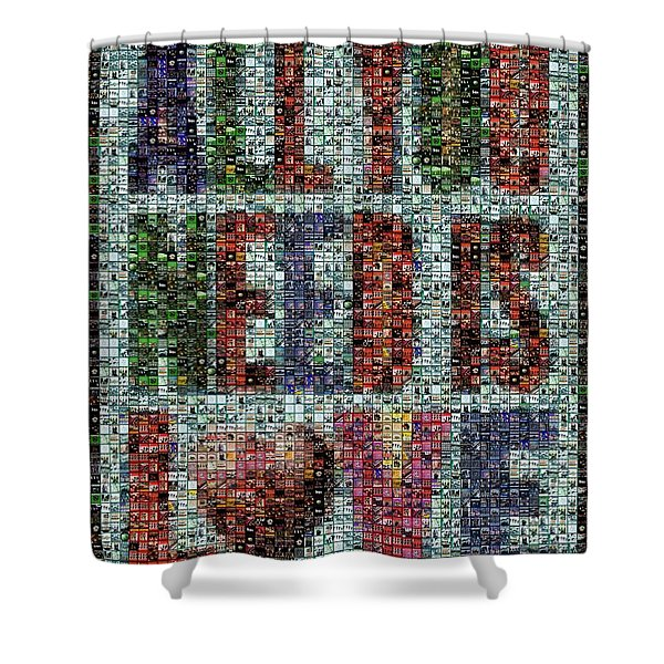 All You Need Is Love Mosaic Shower Curtain by Paul Van Scott