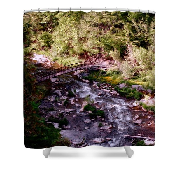 Altered States at the Park Shower Curtain by David Lane