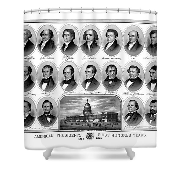 American Presidents First Hundred Years Shower Curtain by War Is Hell Store