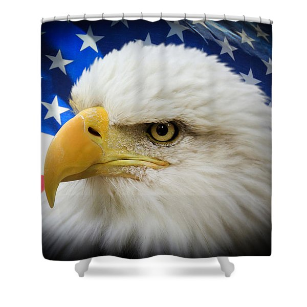 American Pride Shower Curtain by Shane Bechler
