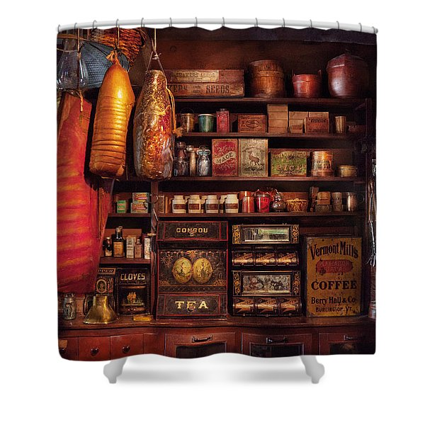 Americana - Store - The local grocers  Shower Curtain by Mike Savad