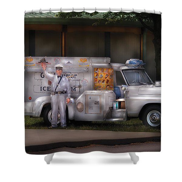 Americana -  We sell Ice Cream Shower Curtain by Mike Savad