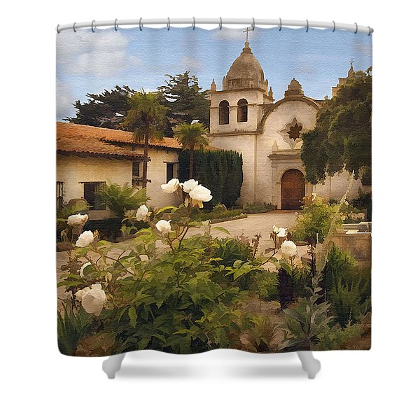 Amy's Carmel Shower Curtain by Sharon Foster