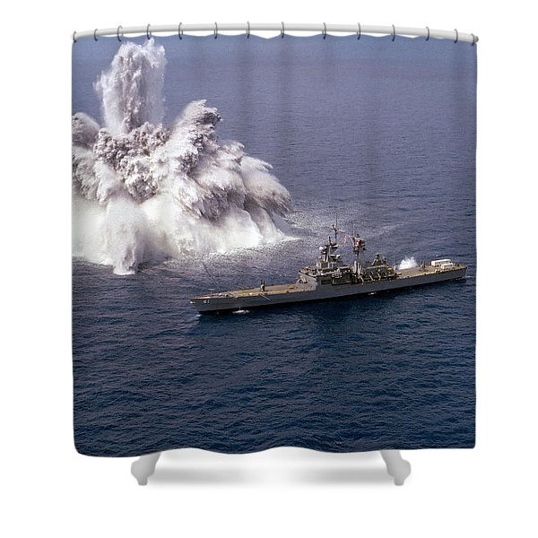 An Explosive Charge Is Detonated Shower Curtain by Stocktrek Images