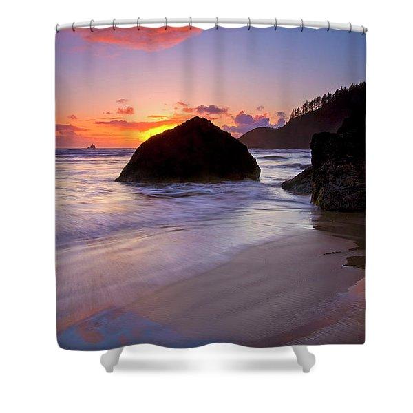 Anchoring The Beach Shower Curtain by Mike  Dawson