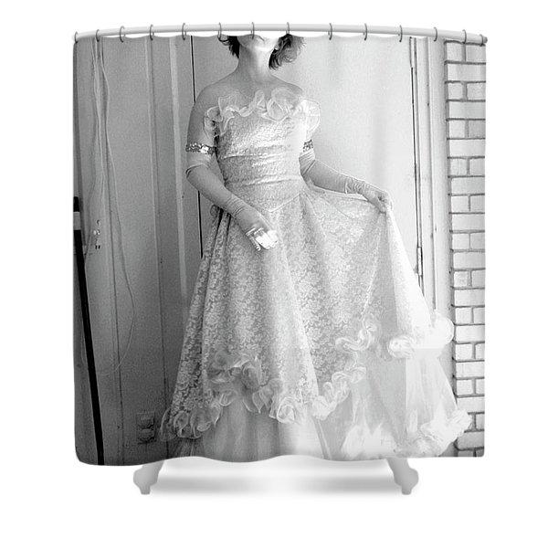 Angel In My Backyard Shower Curtain by James W Johnson
