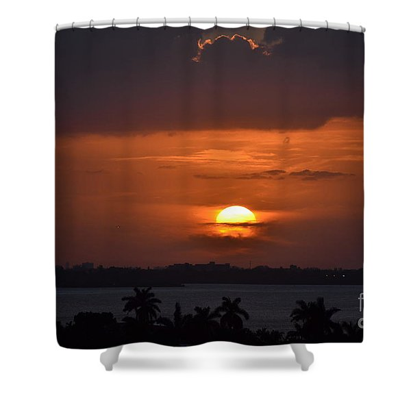 Angel's Head Sunset Shower Curtain by Rene Triay Photography