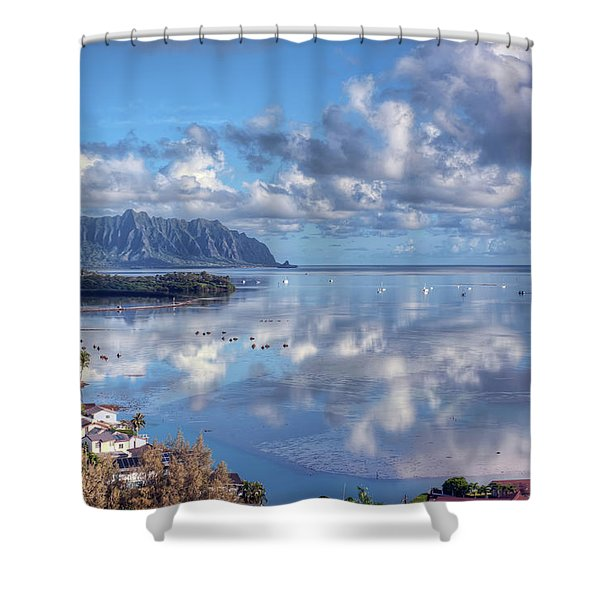 Another Kaneohe Morning Shower Curtain by Dan McManus