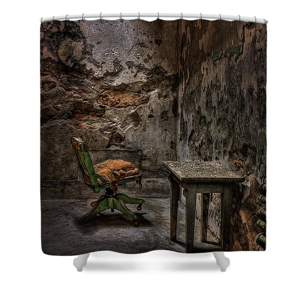 Another One Bites the Dust Shower Curtain by Evelina Kremsdorf