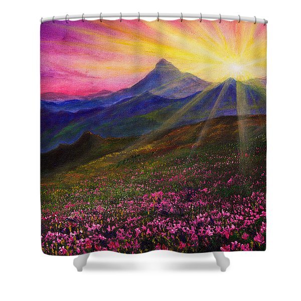 April Sunset Shower Curtain by C Steele