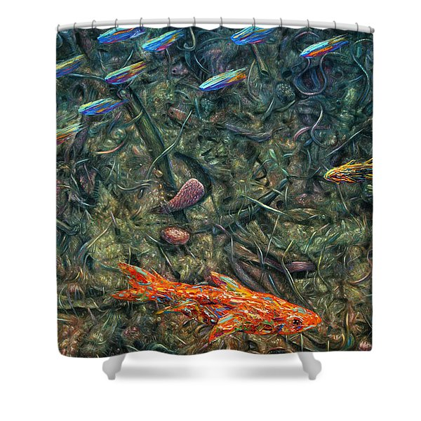Aquarium 2 Shower Curtain by James W Johnson