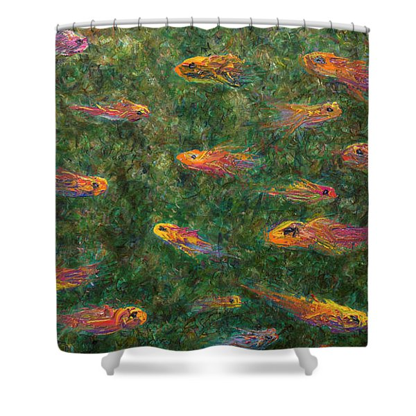 Aquarium Shower Curtain by James W Johnson