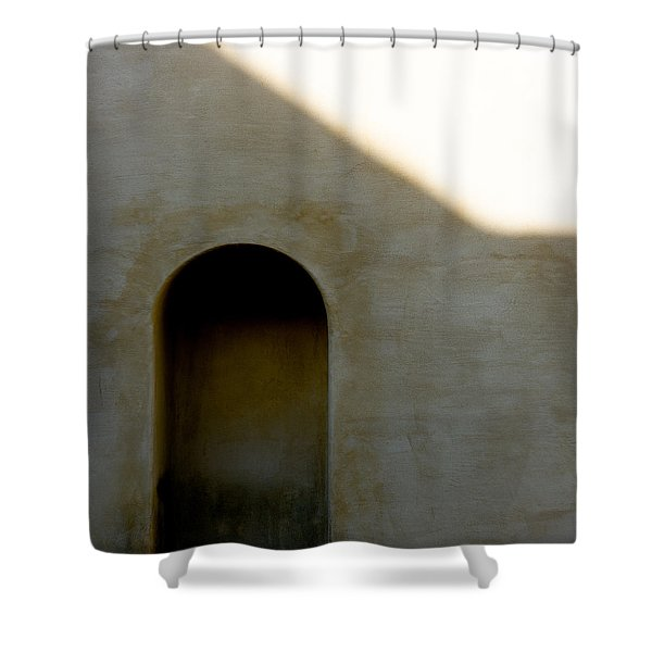 Arch In Shadow Shower Curtain by Dave Bowman