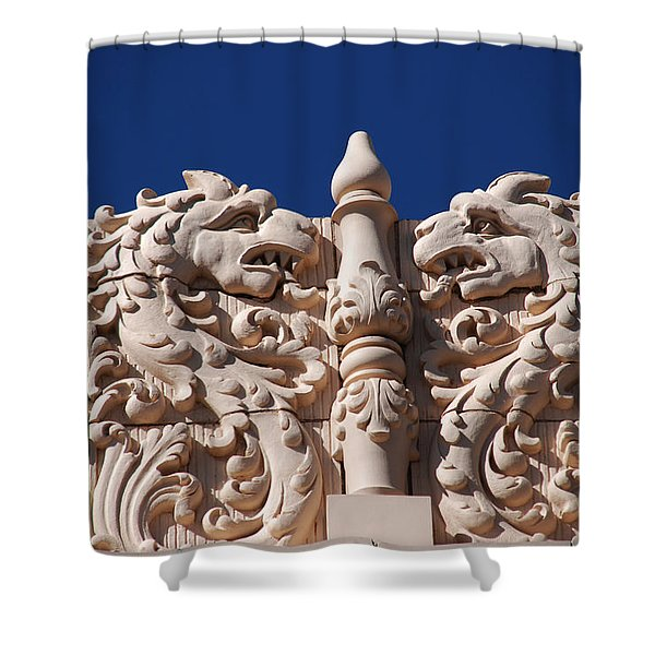 Architecture at the Lensic Theater in Santa Fe Shower Curtain by Susanne Van Hulst