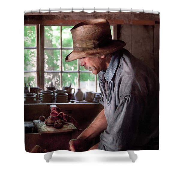 Artist - Potter - The Potter IIi Shower Curtain by Mike Savad
