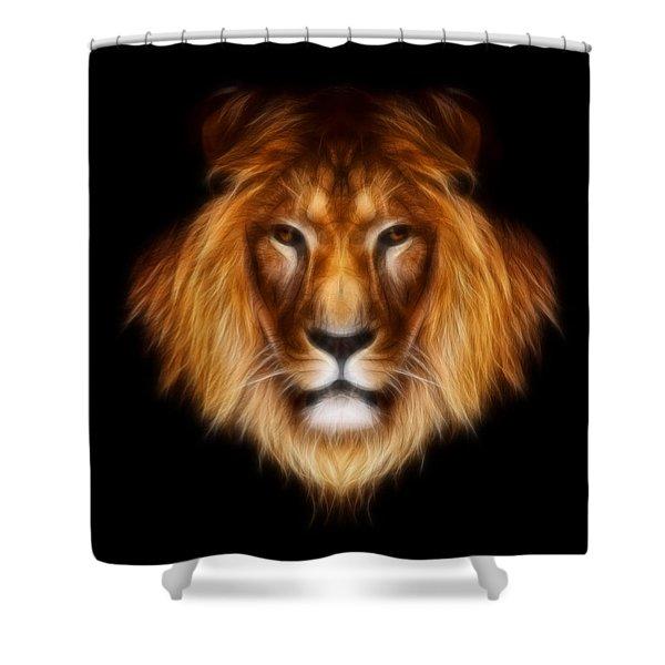 Artistic Lion Shower Curtain by Aimelle