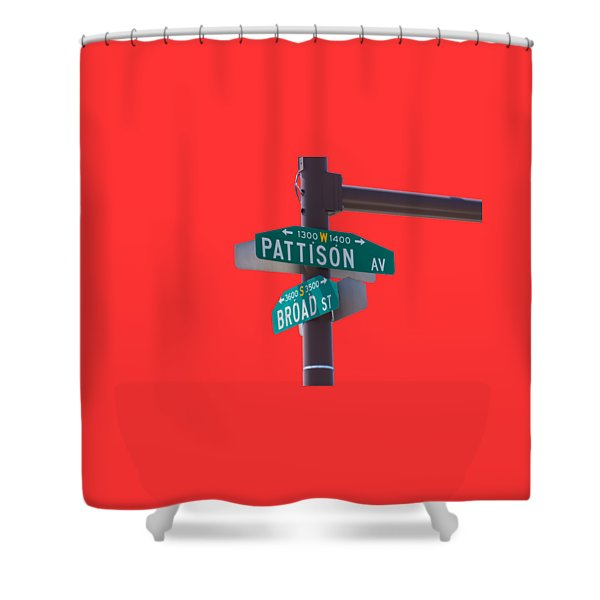 Broad and Pattison Where Philly Sports Happen Shower Curtain by Photographic Arts And Design Studio