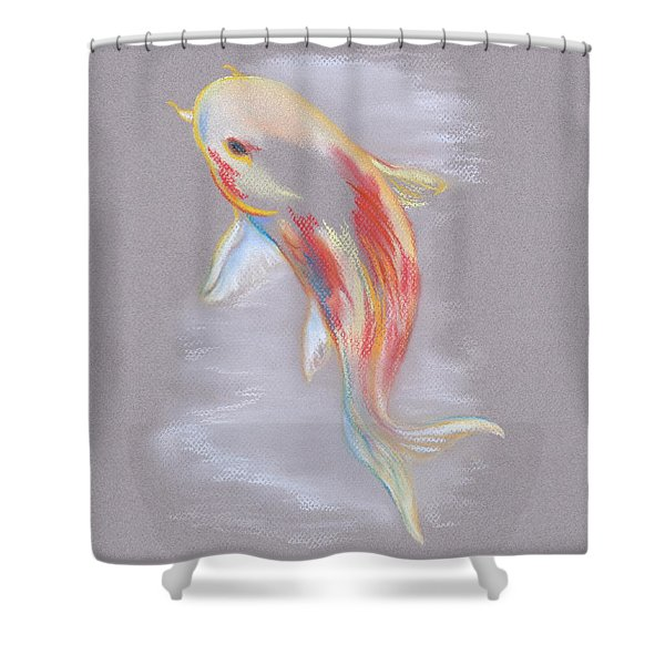 Koi Fish Swimming Shower Curtain by MM Anderson