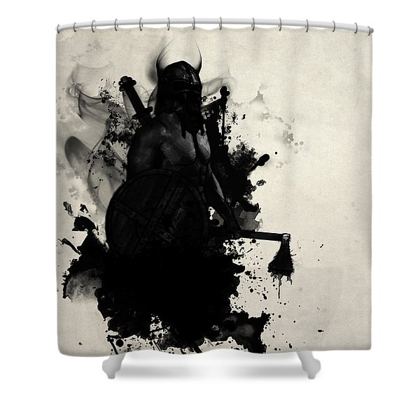 Viking Shower Curtain by Nicklas Gustafsson