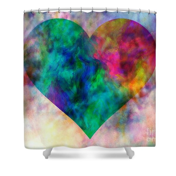 Ascendance Of Love Shower Curtain by WBK