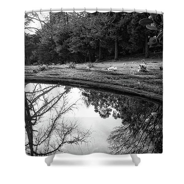 At Peace Shower Curtain by Donna Blackhall