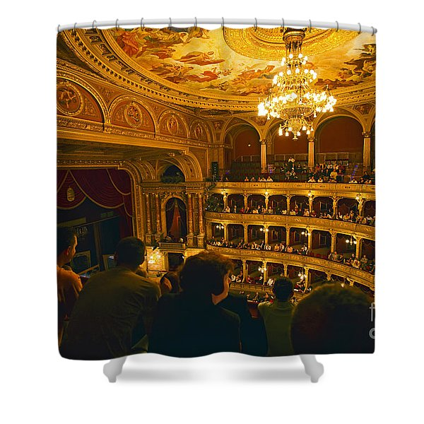 At The Budapest Opera House Shower Curtain by Madeline Ellis