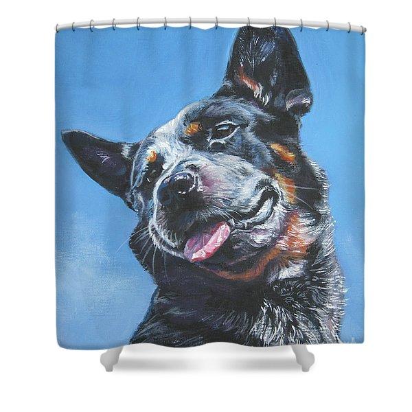 Australian Cattle Dog 2 Shower Curtain by Lee Ann Shepard