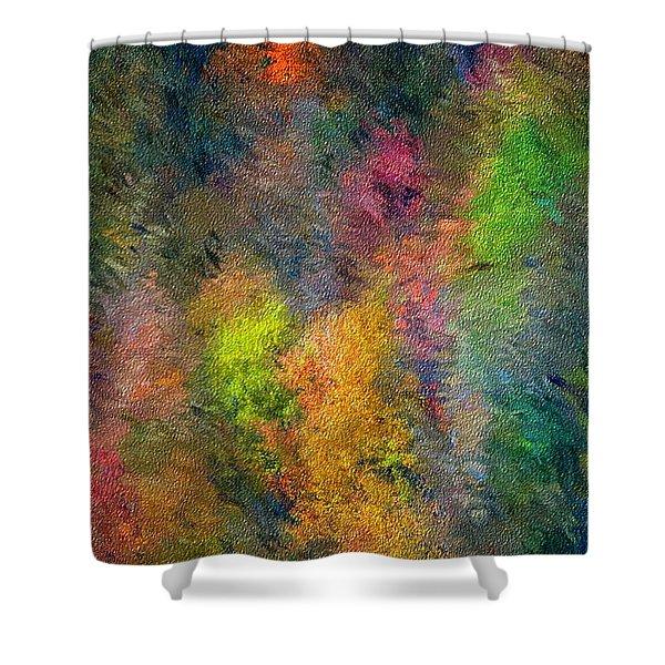 Autum Hillside Shower Curtain by David Lane