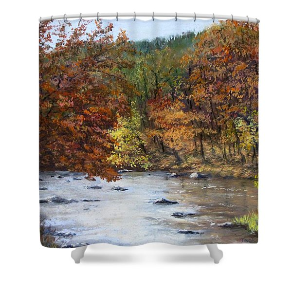 Autumn River Shower Curtain by Jack Skinner