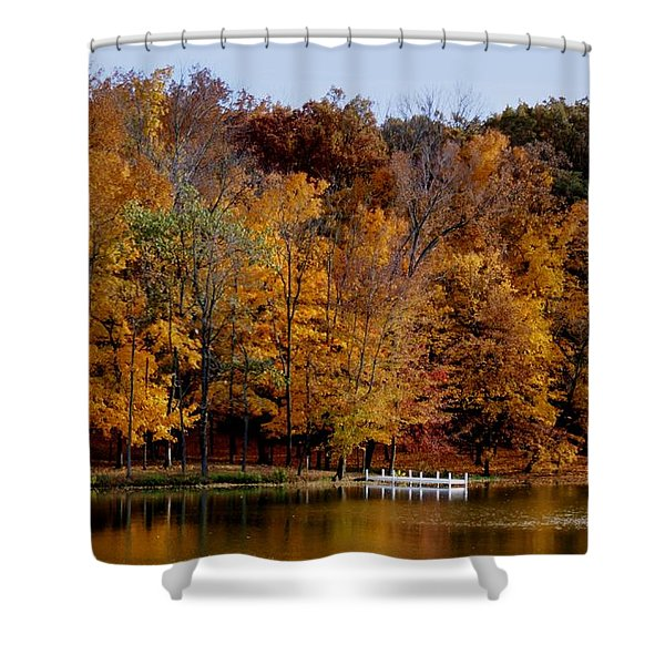 Autumn Trees Shower Curtain by Sandy Keeton