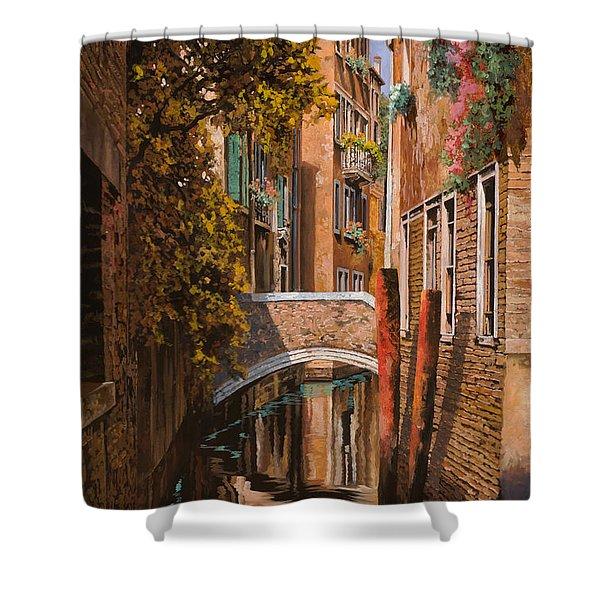 autunno a Venezia Shower Curtain by Guido Borelli