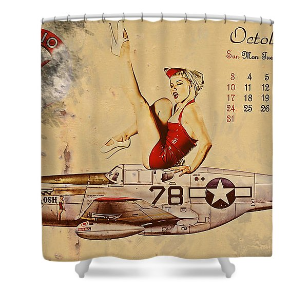Aviation 1953 Shower Curtain by Cinema Photography
