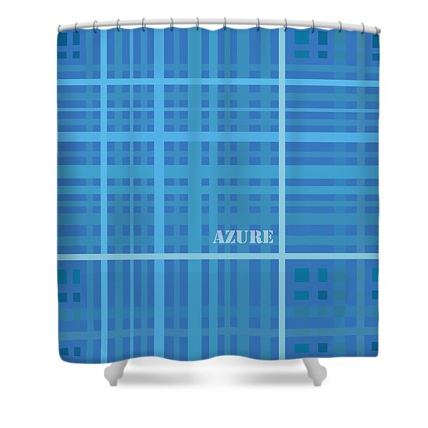Azure Blue Abstract Shower Curtain by Frank Tschakert