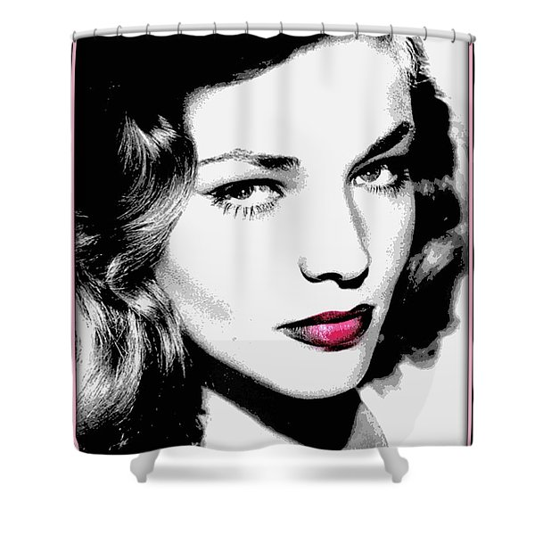 Bacall Shower Curtain by WBK