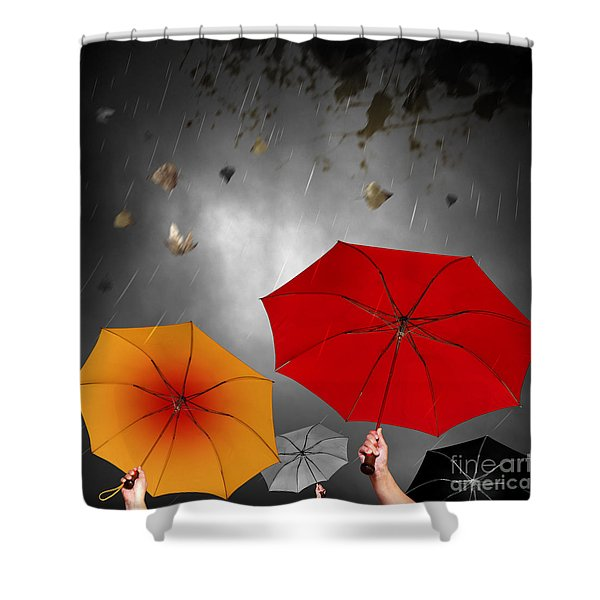 Bad Weather Shower Curtain by Carlos Caetano