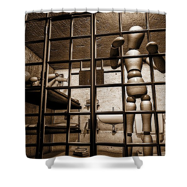 Bail Denied  Shower Curtain by Bob Orsillo