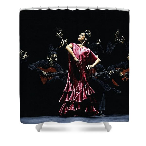 Bailarina Orgullosa Del Flamenco Shower Curtain by Richard Young