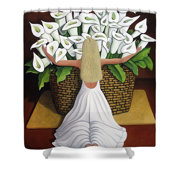 BaileyRae Lilies Shower Curtain by Lance Headlee