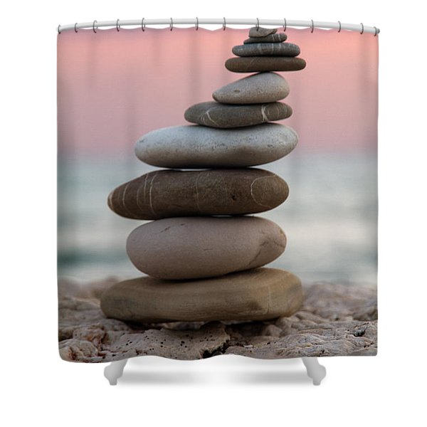 balance Shower Curtain by Stylianos Kleanthous