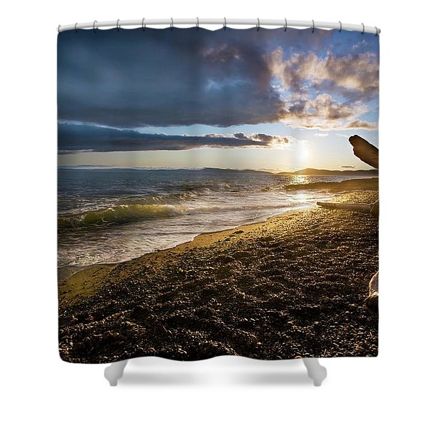 Balanced Evening Shower Curtain by Mike Reid