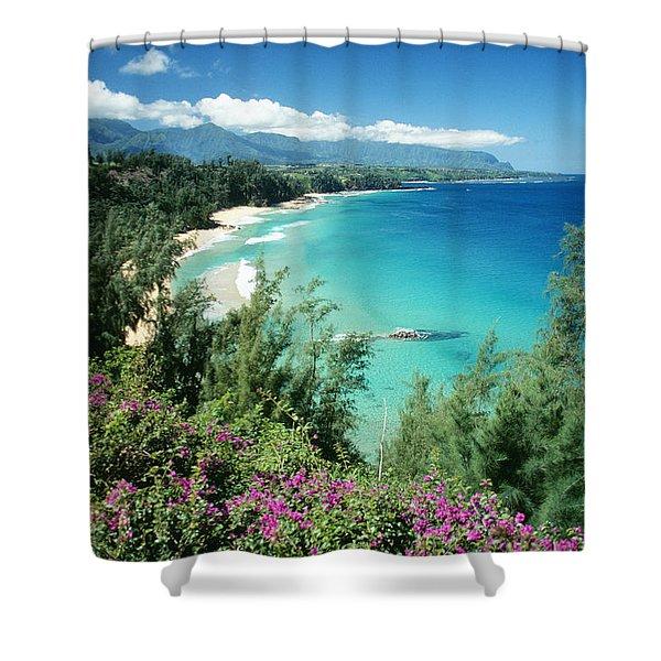 Bali Hai Beach Shower Curtain by Dana Edmunds - Printscapes