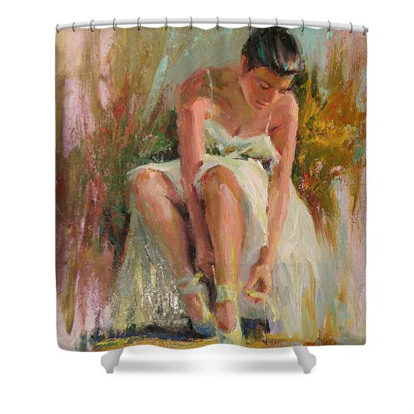 Ballerina Shower Curtain by David Garrison