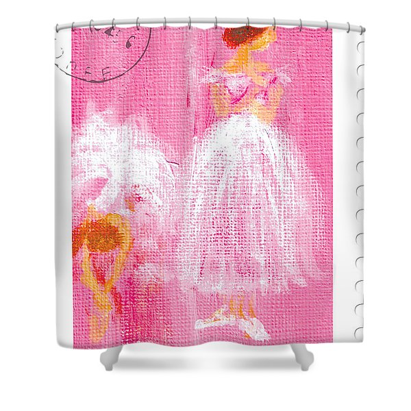 Ballet Sisters 2007 Shower Curtain by Marie Loh