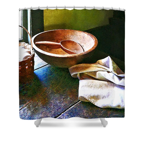 Basket of Eggs Shower Curtain by Susan Savad