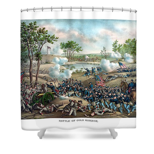 Battle of Cold Harbor Shower Curtain by War Is Hell Store