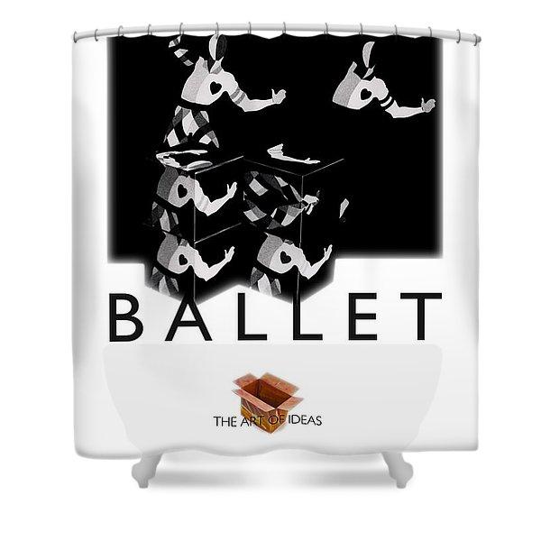Bauhaus Ballet Poster Shower Curtain by Charles Stuart