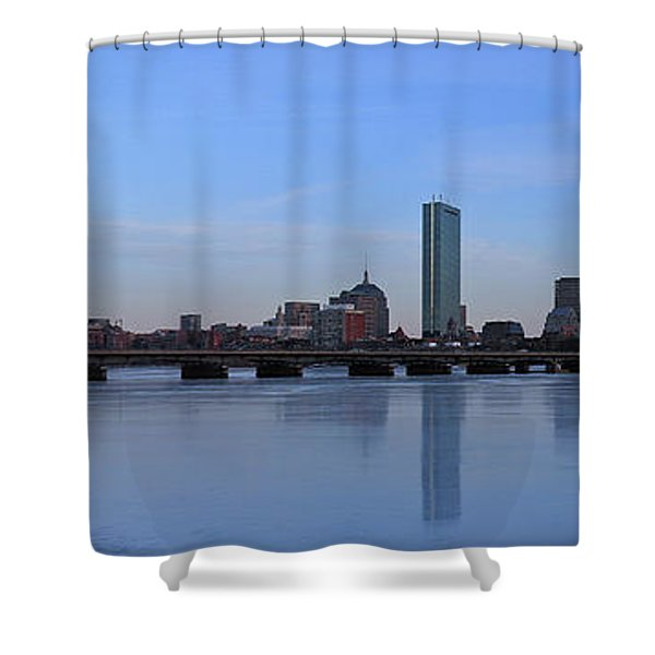 Beantown on Ice Shower Curtain by Juergen Roth