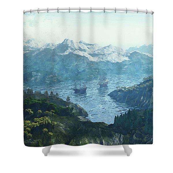 Beautiful Nature Shower Curtain by Jutta Maria Pusl